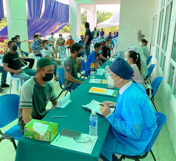 SOPB vaccination centre, Lambir, Miri