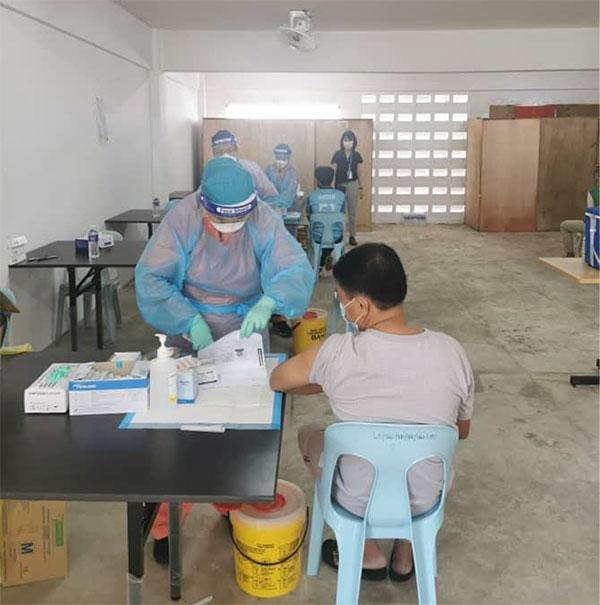 Ta Ann Plywood vaccination program in progress, Sibu